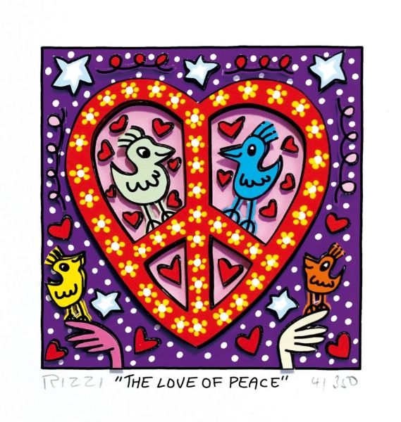 James Rizzi: THE LOVE OF PEACE ( 20 x 24 cm)