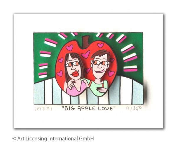 James Rizzi: Big Apple Love ( 24 x 20 cm )
