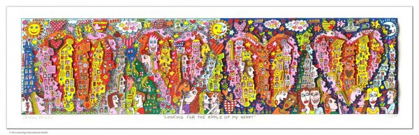 James Rizzi: Looking For The Apple Of My Heart ( 90 x 40 cm )