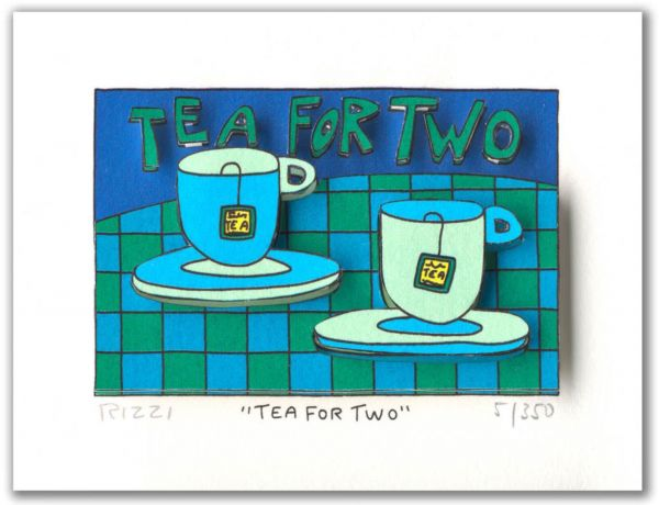 James Rizzi: 3D - TEA FOR TWO ( 24 x 20 cm )