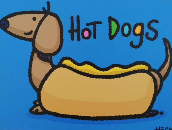 Ed Heck Unikat: Hot Dogs (Blue)