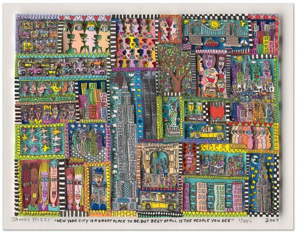 James Rizzi: 3D – NEW YORK CITY IS A GREAT PLACE TO BE. BUT BEST OF ALL IS THE PEOPLE YOU SEE ( Ra