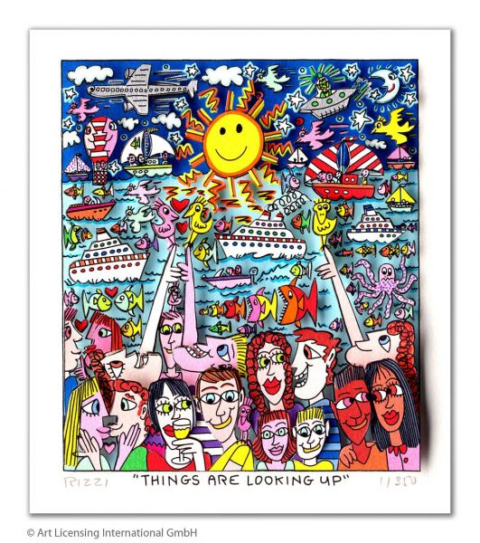 James Rizzi: Things Are Looking Up ( 30 x 40 cm )