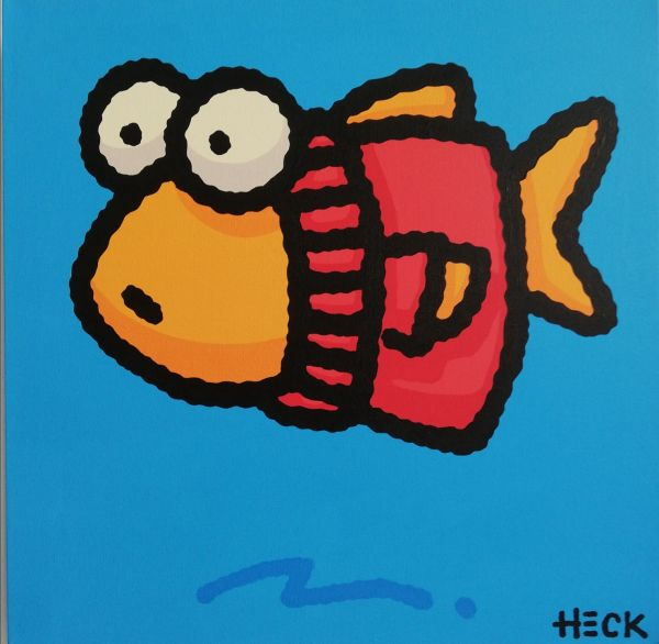 Ed Heck Unikat: Fish In The Red Sweater