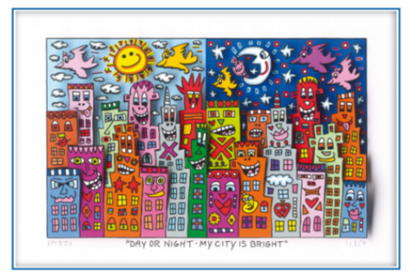 James Rizzi: Day or Night - My City is Bright ( 30 x 40 cm )