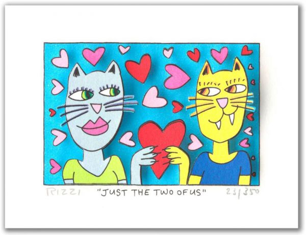 James Rizzi: 3D - JUST THE TWO OF US (Rahmen 24 x 20 cm )