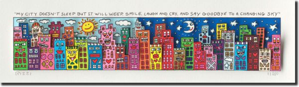 James Rizzi: 3D - MY CITY DOESN´T SLEEP BUT IT WILL WEEP, SMILE, Laugh AND CRY, AND SAY GOOD BUY T