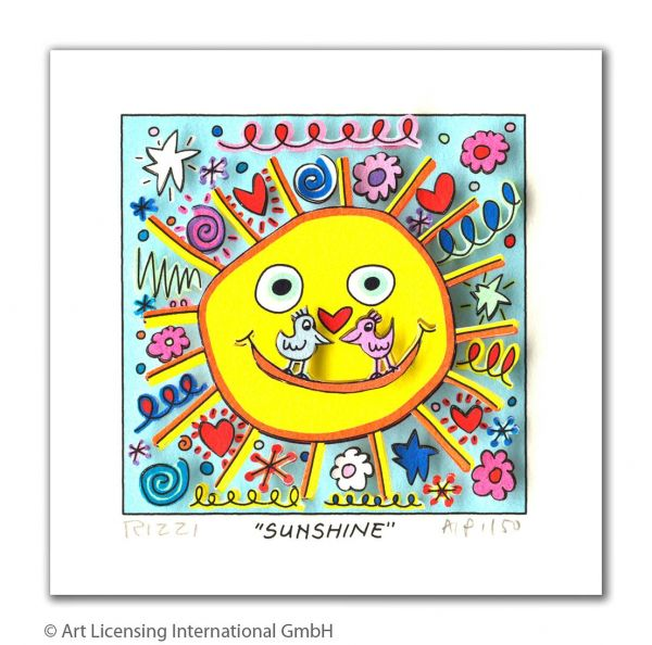 James Rizzi: Sunshine ( 24 x 20 cm )
