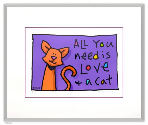 Ed Heck Editionen Papier: All You Need is Love and a Cat