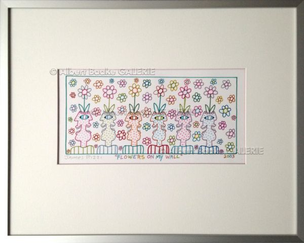 James Rizzi: Flowers on my wall