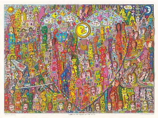 James Rizzi: Love In The Heart Of The City ( 100 x 130 cm )