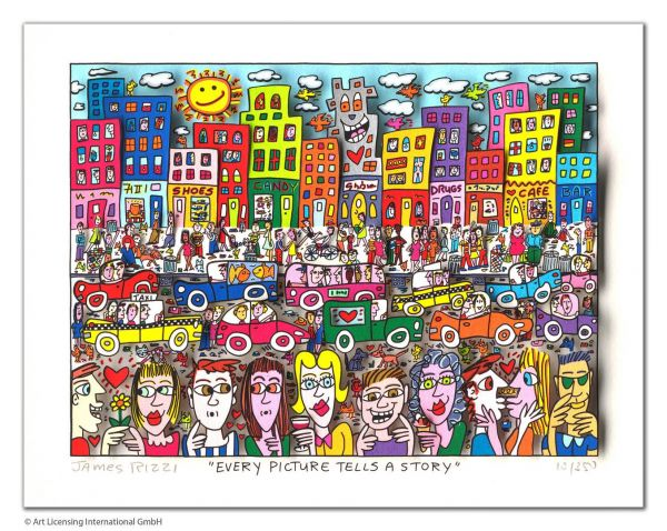 James Rizzi: EVERY PICTURE TELLS A STORY ( 45 x 45 cm)