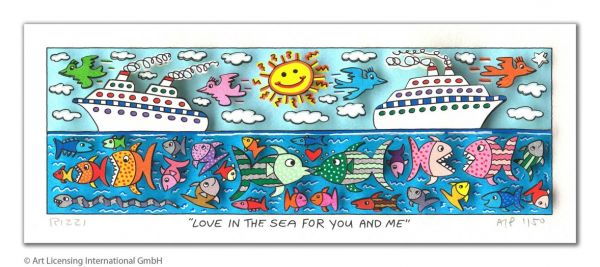 James Rizzi: Love In The Sea For You And Me ( 24 x 40 cm )