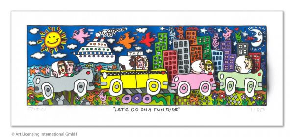 James Rizzi: Let´s Go On A Fun Ride ( 24 x 40 cm )
